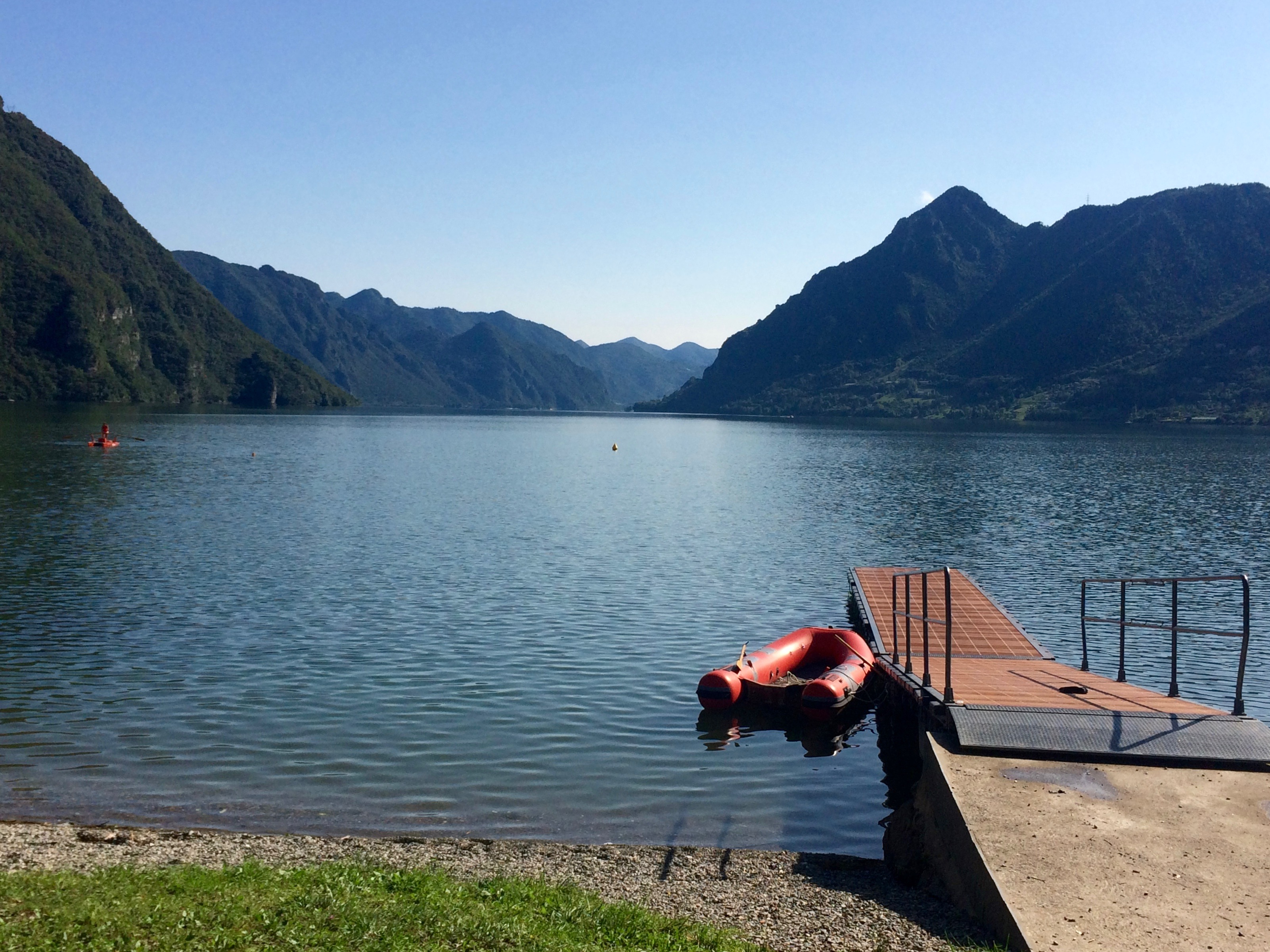 Great dock to jump off and into Lake Idro!
