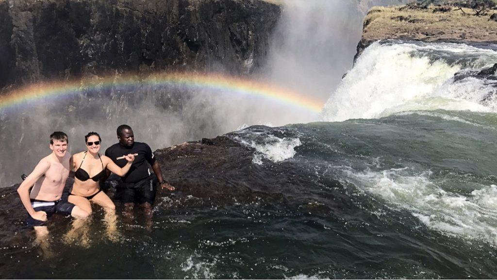 surfs up at Victoria Falls Devil's Pool