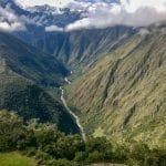 Stunning views hiking the Inca trail