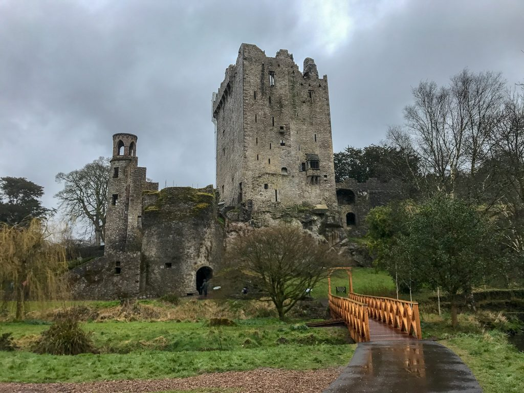 Blarney Castle is one of the most iconic castles in Ireland due to the famous Blarney Stone. Inside the castle you can hang upside down and enjoy a wet, cold kiss on the Blarney Stone, to receive the gift of eloquence. Blarney Castle is also the most fun to explore out of all the castles we visited in Ireland.