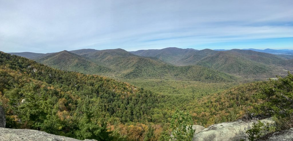 Stunning views from Old Rag at Shenandoah National Park. One of America's finest and most beautiful National Parks during the Fall Season.