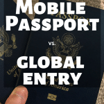 Mobile Passport vs. Global Entry - how do you choose which travel program will benefit you the most? I break down everything you need to know about both Mobile Passport and Global Entry to help you make the best decision. #TravelTips #TravelHack #MobilePassport #GlobalEntry #USATravel