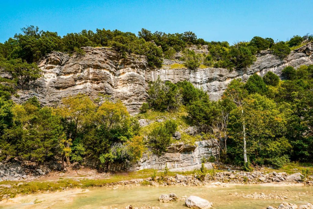 Arbuckle Mountains in Oklahoma.